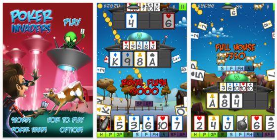 Poker Invaders für iPhone und iPod Touch - Screenshots