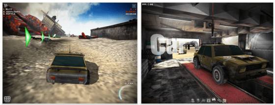 Uber Racer 3D Sandstorm Universal-App für iPhone, iPod Touch und iPad Screenshots
