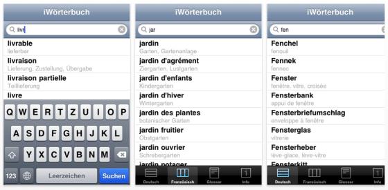 iWörterbuch Französisch für iPhone und iPod Touch