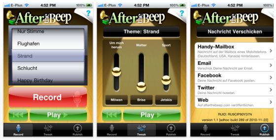 After the Beep Screenshot App für iPhone und iPod Touch