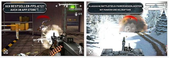 Battlefield: Bad Company 2 für iPhone und iPod Touch - Screenshots