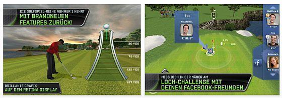 Tiger Woods PGA Tour 12 - Screenshots der App für iPhone und iPod Touch