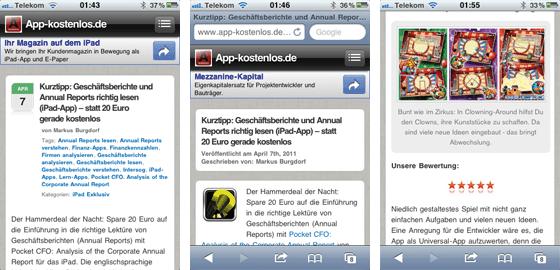 Web-App von App-kostenlos.de Screenshots