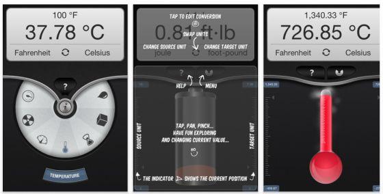 Convex Umrechnungsapp für iPhone, iPod Touch und iPad