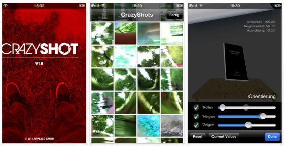 Crazy Shot iPhone App Screenshot