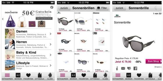 MyBestBrands iPhone App Screenshot
