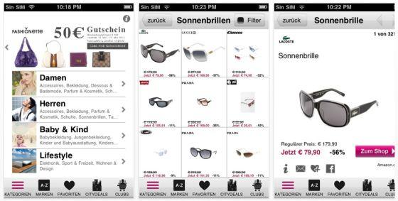 MyBestBrands iPhone App Screenshot
