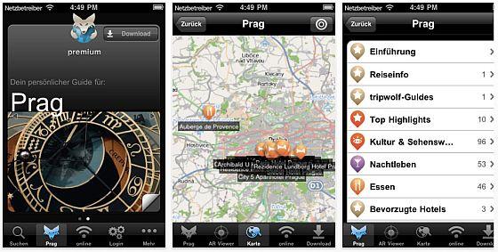 TripWolf Prag iPhone-Reiseführer App