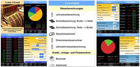 iLohn+Kredit 2012 Finanzrechner für iPhone - Screenshot