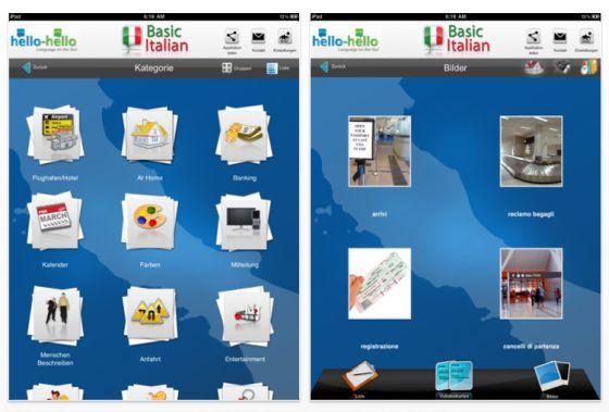 Einfaches Italienisch von Hello-Hello für das iPad