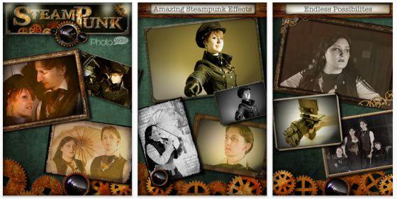 Steampunk Phototada! Screenshot der Retro-Fotobearbeitungsapp für iPhone und iPad