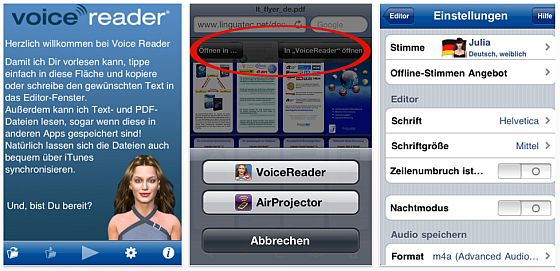 Voicereader Text to Speech Screenshots