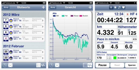 iBody für iPhone - Screenshots