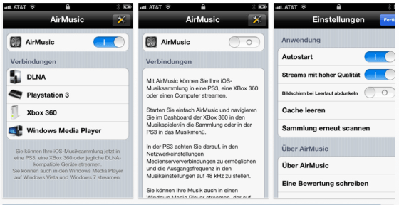 AirMusic für iPhone, iPod Touch und iPad
