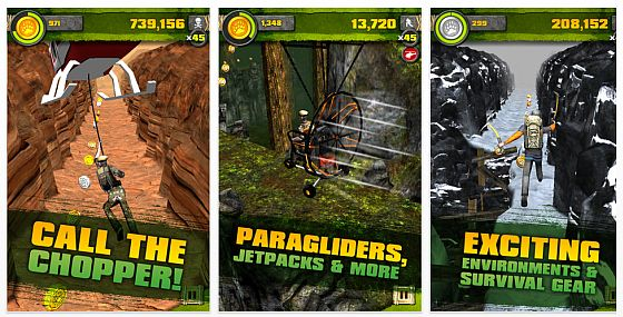 Survival Run with Bear Grylls für iPhone, iPod Touch und iPads - Screenshots
