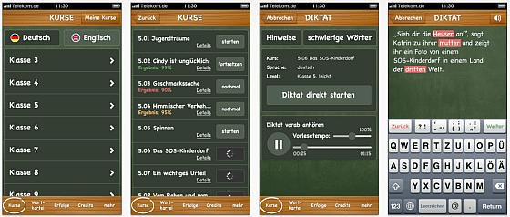 SchreibHero auf dem iPhone und iPod Touch
