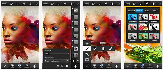 Screenshots Adobe Photoshop Touch