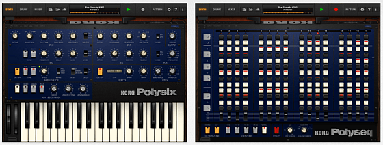 KORG iPolysix Synthesizer App für das IPAD - Screenshots