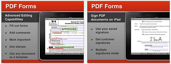 PDF Forms Screenshots