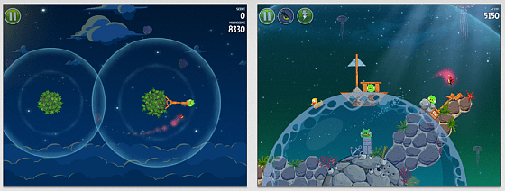 Angry Birds Space HD Screenshots