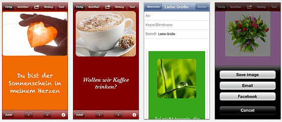 Screenshots iPhone-App Kleiner Gruß