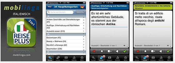 Screenshots Italienisch Reise Plus für iPhone