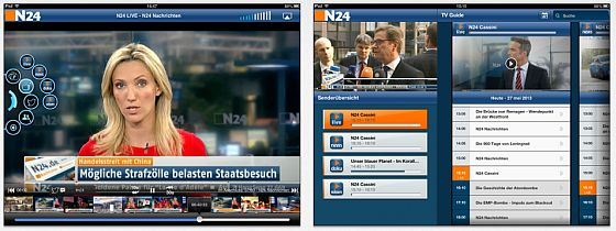 N24 nexT App für iPhone, iPod Touch und IPad Screenshots