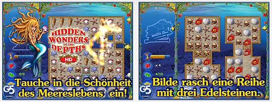 Hidden Wonders of the Depths ist ein Match-3 Spiel mit ordentlich Abwechslung und vielen Minispielen aus anderen Spiel-Genres.
