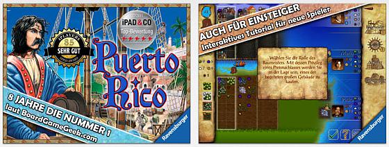 Puerto Rico HD ist eine sehr gut bewertete Umsetzung des erfolgreichen Ravensburger-Brettspiels Puerto Rico für das iPad.