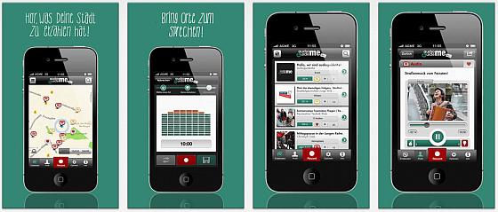 audiguideMe ist eine Community auf dem iPhone, in der man zu Orten passende Audiobeträge selbst erstellen oder von anderen anhören kann.