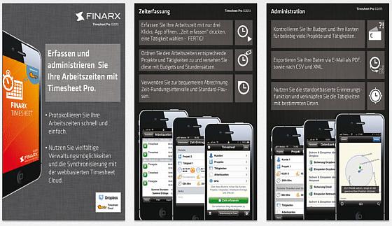 FinarX Time Sheeter Pro Screenshots