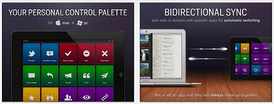 Actions for iPad Screenshots