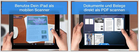 Scanner Pro by Readdly auf dem iPad