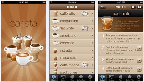 Barista - Kaffeewissen per iPhone App
