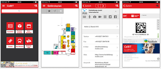 CeBIT 2014 App Screenshots