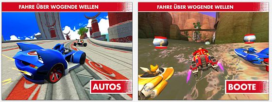 Sonic & All Stars Racing Screens