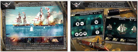 Das Spiel Assassin's Creed Pirates bietet viele Videos und eine gute Grafik - zusammen mit einfacher Bedienung und guter Story.