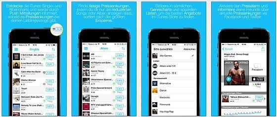 Mit CheapCharts lädst Du Musik billiger von iTunes. Die App bringt dafür alles Wesentliche an Funktionen, Verlinkungen und einstellbaren Push-Nachrichten mit.