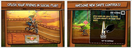 Mad Skills BMX zeigt, dass man BMX-Radrennen nicht mit links gewinnt. Man braucht Konzentration und Reaktionsvermögen, um gegen die Computergegner zu gewinnen. Wer mag, kann über facebook auch gegen Freunde antreten.