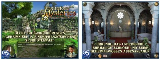 Zum ersten Mal kostenlos: Die Vollversionen von Brightstone Mysteries: Hotel des Übersinnlichen. Ganz typisch für die kombinierten Wimmelbild- und Abenteuerspiele von G5 Entertainment.