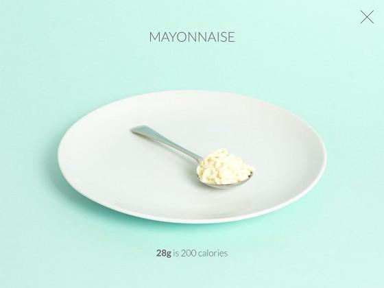 ... und hier die gleiche Kalorienzahl in Form von Mayo. (Foto: Nic Mulvaney Ltd.)