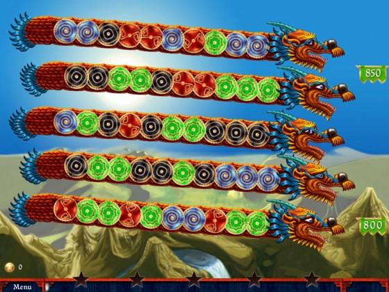 Screenshot vom Survival-Modus: Rechts siehst Du die Höhenanzeige, unten, wieviel Sterne Du schon erreicht hast.