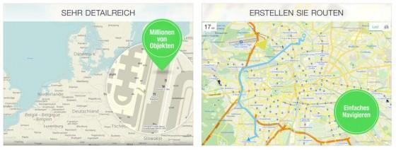 Die hohe Detailgenauigkeit der Karten braucht sich vor anderen Karten-Anwendungen nicht zu verstecken. Jetzt kann man auch mit Maps.me navigieren.
