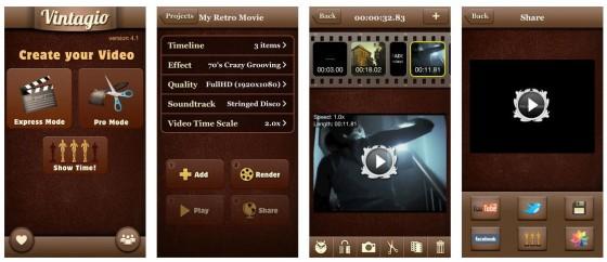 Mit Vintagio gelingen Videos im Stil vergangener Jahrzehnte ganz einfach. Die gute Musik ergänzt das Angebot ideal.