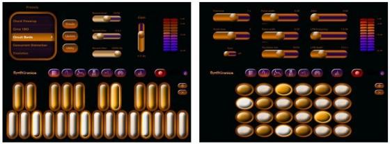 Design aus dem letzten Jahrttausend - aber gute Sounds, das ist SynthTronica.