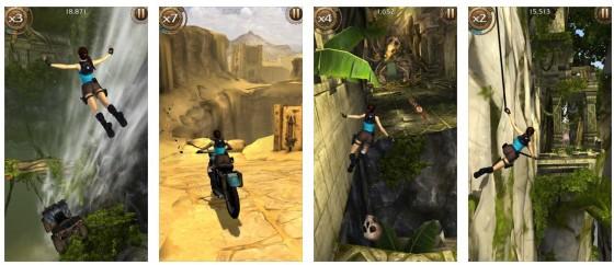 Lara Croft: Relic Run ist eine Herausforderung für alle, die Endlos-Runner mögen: Mehr Abwechslung, aber auch schwerer zu erkennende Hindernisse. Mit Motorrad oder Quad erreicht man gute Geschwindigkeiten, das Entlanghangeln an Wänden ist ebenfalls neu.