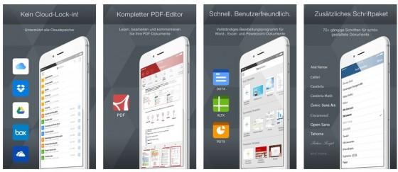 Alle Office-Funktionen auf iPhone und iPad - das macht Office Suite Premium so stark.