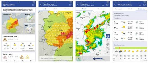 Wer Warnwetter auf seinem Mobilgerät hat, braucht keine weitere Wetter-App mehr. Der Deutsche Wetterdienst hat hier eine gute Kombination aus Wetter-App und Unwetterwarner veröffentlicht.