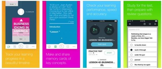 Farbenfrohe Gestaltung und interessantes Konzept: Mit Ascent Business Idioms schaust Du einer Mitarbeiterin in einer New Yorker Werbeagentur über die Schulter und lernst so modernes Business-Englisch.