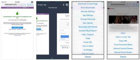 Mit dem Browser Red Onion auf iPhone und iPad surfst Du anonym und ohne Zugangsbeschränkungen oder Filter - dafür aber deutlich langsamer, da jede Anfrage über mehrere Knoten umgeleitet wird.